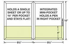 Die Cut Template for Conformer Expanding 2 Pocket Letter Size Folder w/ Pen Holder