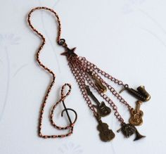 Musical-Bookmark-Wire-Wrap-Guitar-Cello-Violin-French-Horn-Saxophone-Charms
