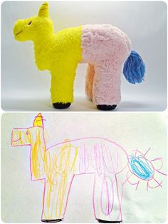 . t o y s . -  Whimseycraft on Etsy - turn your child's drawing into a custom-made toy!