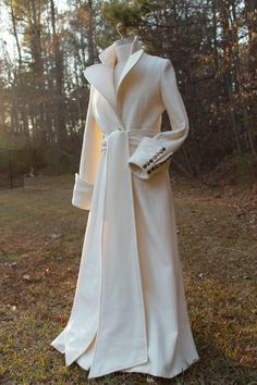 Stunning Handmade Virgin Wool Coat Maxi Coat Made by HAVENSTREET #wedding