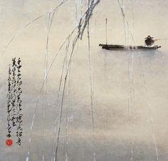 Zhao Shaoang, Fishing Alone 獨釣, 1957