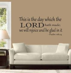 Psalm 118:24 Vinyl Wall Decal Sticker...