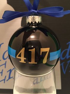 Thin Blue line Christmas Ornament, thin red line, leo christmas ornament, police christmas ornament, law enforcment ornament, christmas ball by IdahoEmbroidery on Etsy