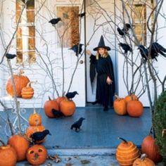holloween decoration ideas black orange colors