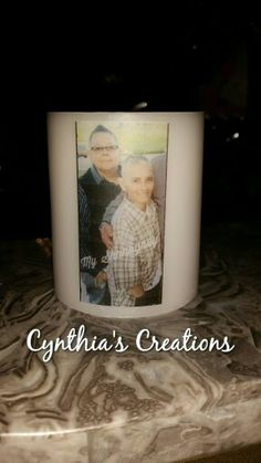 In Loving Memory Candle, Image Transfer To Candle