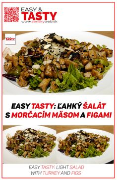 For example salads are light and tasty. Recipe for today: delicious salad with turkey, figs and almonds.  video recipe: https://www.youtube.com/watch?v=AsbH1Nlr6ps  Web site: http://www.zenskyweb.sk Facebook: https://www.facebook.com/easytastysk/ Youtube channel: https://www.youtube.com/channel/UCA1av29Uc9pJFzCFnMuxr7A?sub_confirmation=1