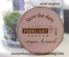 Save the Date Rustic Wedding Favor Wood Magnets-50 Custom Save the date  two colors-custom made