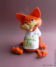 Купить Мартовский кот - кот, Мартовский кот, авторская игрушка, валяная игрушка, весна