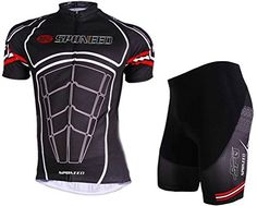 Sponeed Mens Bicycle Jersey Polyester and Lycra Muscles Cycle Armour Size Asia L US M Deep brown >>> Learn more by visiting the image link. (Note:Amazon affiliate link)
