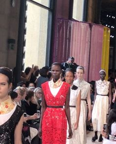 Pattern clashes and swaths of attitude at @miumiu #ss18. . . #miumiu #paris #pfw #parisfashionweek #lofficielsingapore via L'OFFICIEL SINGAPORE MAGAZINE INSTAGRAM - Fashion Campaigns  Haute Couture  Advertising  Editorial Photography  Magazine Cover Designs  Supermodels  Runway Models