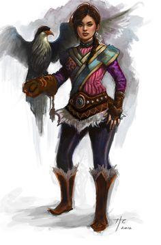 Character possibilities from the West, book 3 // Mongolian Hawk Handler by Rustveld.deviantart.com on @deviantART