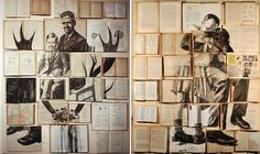 Sir John Lawes Art Faculty: Apart and or Together Edexcel GCSE 2015 Collage working over old books -Russian born artist Ekaterina Panikanova uses old books as a surface to draw and paint on Gcse Books, Art Connection, Art Alevel, Surface Art, Art Diary, Personal History, Photocollage, A Level Art, Gcse Art