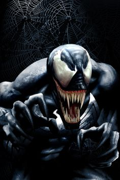 Venom - created by Todd McFarlane, Eddie Brock wheres the former symbiote costume of Spider-man  becoming the greatest nemesis Spider-man has to face. I used to own a beat up Amazing Spider-Man #300 where he made his first full appearance. He was a favorite character to follow in Marvel Comics.