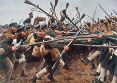 """BATTLE OF BUTTS NEAR HAGELBERG/ C.1900 Befreiungskriege 1813–1815: Herbstfeldzug 1813. – """"Die Kolbenschlacht bei Hagelberg am 27. August 1813 und der preußische Winkelried."""""""