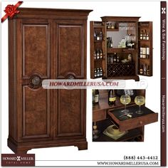 The Barossa Valley Wine & Bar Cabinet in rich Cherry Finish with inset panel doors is a fine-quality Hide-a-Bar™  Featuring racks for 22 bottles of wine, ample door space for a variety of spirits, wooden stemware racks, and shelving for glasses and other bar accessories, Glass-mirrored back and dovetail drawers complete the picture, making this cabinet a must-have for anyone who loves to entertain and appreciates a fine bar setup that can double as an attractive home furnishing when not in…
