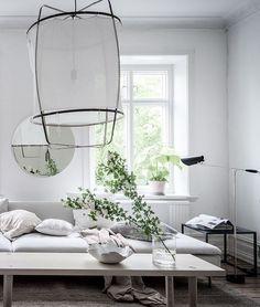 Interior Designer Blog white home with lots of greens - via coco lapine design blog