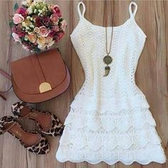 Crochet dress summer maxi skirts Ideas for 2019 Girly Outfits, Dress Outfits, Cool Outfits, Casual Outfits, Fashion Outfits, Diva Fashion, Womens Fashion, Cute Dresses, Short Sleeve Dresses