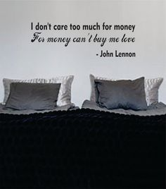 Money Cant Buy Me Love The Beatles Quote Design Sports Decal Sticker Wall Vinyl