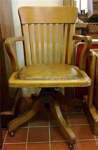 vintage oak swiveltilt office chair industrial antique delivery arranged antique wood office chair