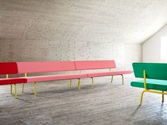 Colorful seating.
