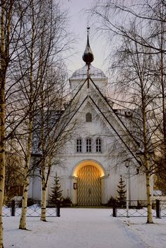 Piteå church, Norrbotten, Sweden My folks were married here, and my father's funeral was here.