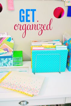 Get your office organized with these easy ideas! What does your desk look like?