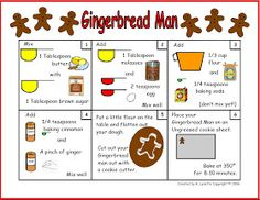 Minds in Bloom: Gingerbread Man Recipe in Pictures