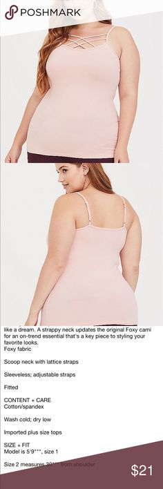 b20d211703b Nwt Torrid size 4 LT Pink Foxy Cami strappy Top Size 4x torrid Tops  Camisoles Camisole