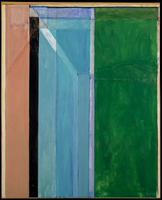 Richard Deibenkorn.Ocean Park (Number 30) Met Museum.  Date:     1970 Medium:     Oil on canvas Dimensions:     H. 100, W. 82 inches (254 x 208.3 cm.)  Classification:     Paintings Credit Line:     Bequest of Miss Adelaide Milton de Groot (1876-1967), by exchange, 1972 Accession Number:     1972.126
