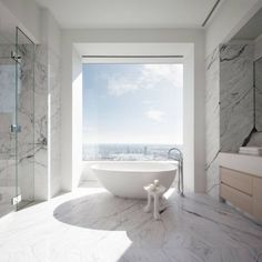 Jennifer Lopez and Alex Rodriguez are 432 Park Avenue's newest celebrity residents 432 Park Avenue, Bathroom Interior, Modern Bathroom, Small Bathroom, Bathroom Ideas, Bathtub Ideas, Large Bathrooms, Bathroom Designs, Bathroom Renovations