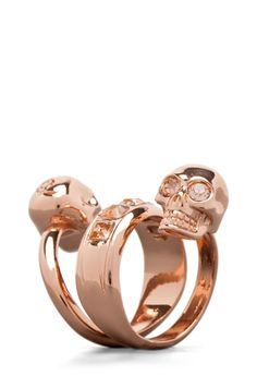 ALEXANDER MCQUEEN  Twin Ring in Rose Gold