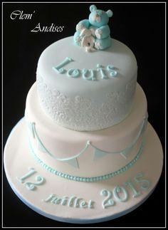 Cake design bapteme dentelle