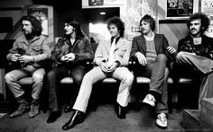 Image detail for -(L-R) Sneaky Pete Kleinow, Rick Roberts, Chris Hillman, Michael Clarke and Bernie Leadon of the Flying Burrito Brothers pose for a group portrait in 1971 in Amsterdam, Netherlands.  The Flying Burrito Brothers....good Country Rock!!