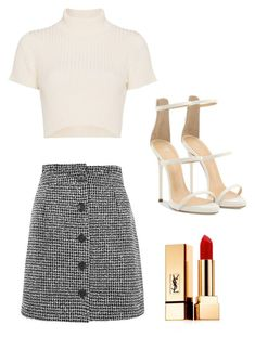 """Day Out #2"" by farahahmed2016 ❤ liked on Polyvore featuring Topshop, Staud, Giuseppe Zanotti and Yves Saint Laurent"