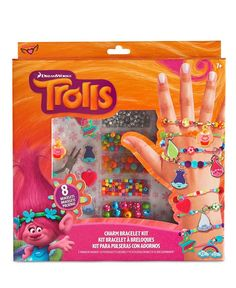 Help them express their artistic sides with this fun Trolls movie-inspired charm bracelet kit from Fashion Angels, featuring everything they need to get creative and make eight colorful charm bracelet