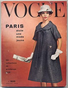 Vogue Paris 1958 March Spring Collections (Christian Dior by Yves Saint Laurent)