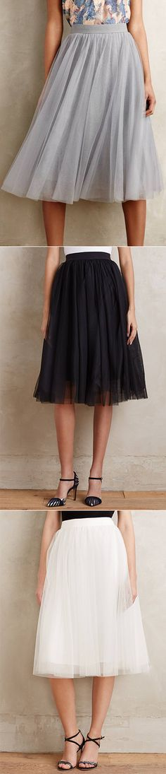 Fall in love with this which will never out of trend! The Sweet Midi Skirt features  Mesh Layered,Elastic Waist. More fashions at OASAP.COM.