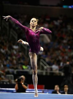 McKayla Maroney. Gymnastics. I really love see her tumble and adore her expression.