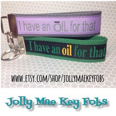 Essential oils key fob by JollyMaeKeyFobs on Etsy