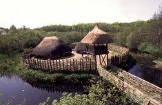Cragaunowen, Co. Clare - Bronze Age dwelling recreated.