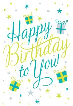 Free Printable Happy Birthday To You Greeting Card