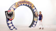 VIDEO-- Germanfest & Oktoberfest Props: Oktoberfest Arch - Shindigz Party Decora...