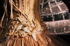 Sidewalk to Catwalk Exhibition Melbourne, Australia 2014-2015. So much detail in the corsets.