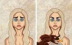 Les personnages de Game of Thrones Avant/Après : Daenerys, la Khaleesi