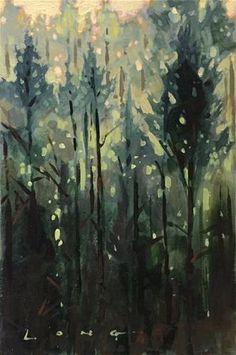 "Daily Paintworks - ""Hillside"" - Original Fine Art for Sale - © Chris Long"