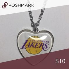 NWT Los Angeles Lakers necklace Great gift idea. Also have the Warriors Jewelry Necklaces