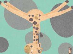 Giraf die niet in het boek past
