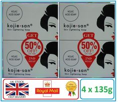 Genuine Kojie San Kojic Acid Skin Lightening Soap - 4 x 135g