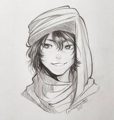 "15.3k Likes, 148 Comments - Umair (@mangakaua983) on Instagram: ""Arab style. I call this drawing الولد من مصر"" #procrastination #doodle #illustration #sketch…"""