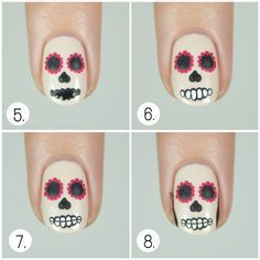 1-Paint your nails using ivory nail polish or white if you don't have ivory one; let it dry 2-Using...
